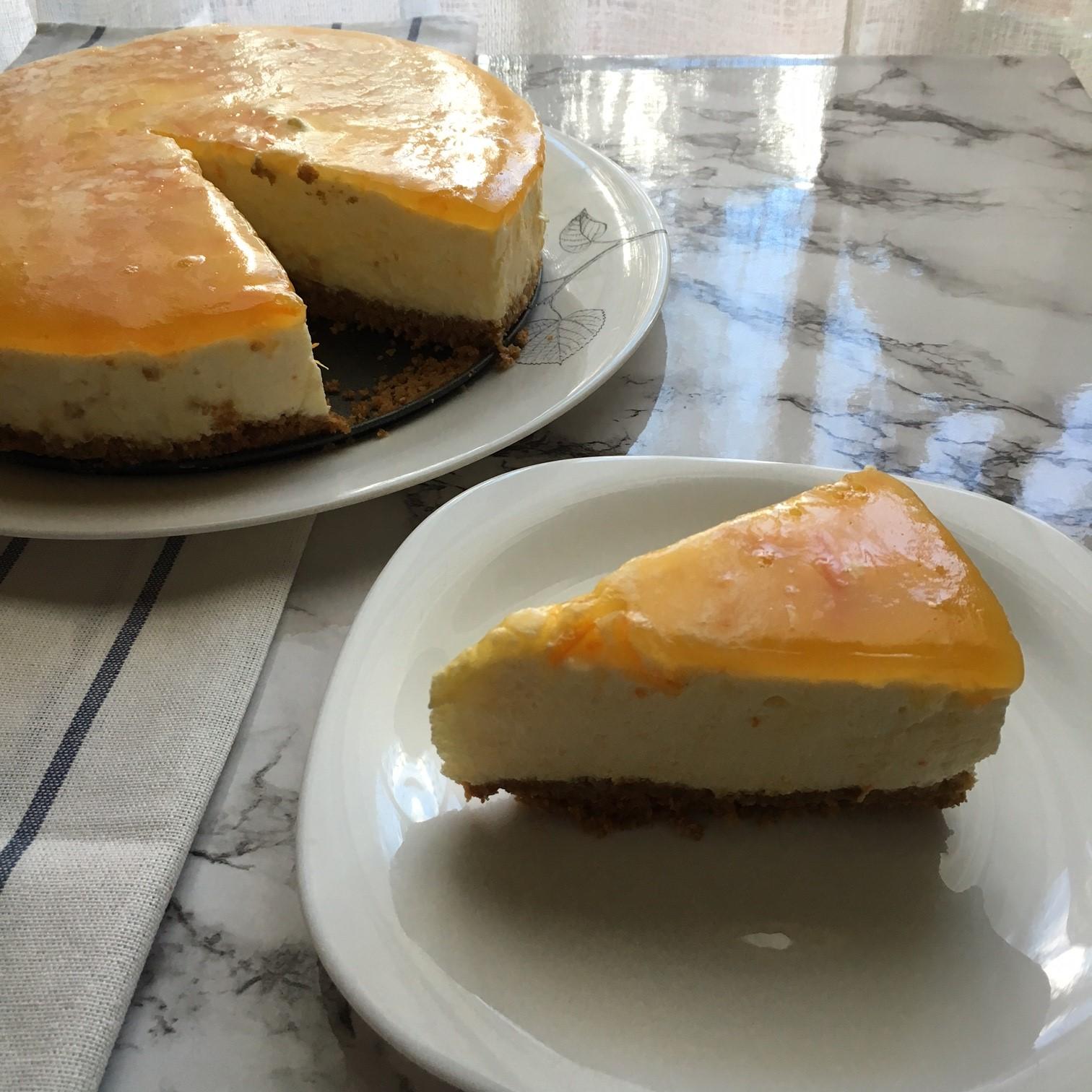 Pastel de mousse de naranja