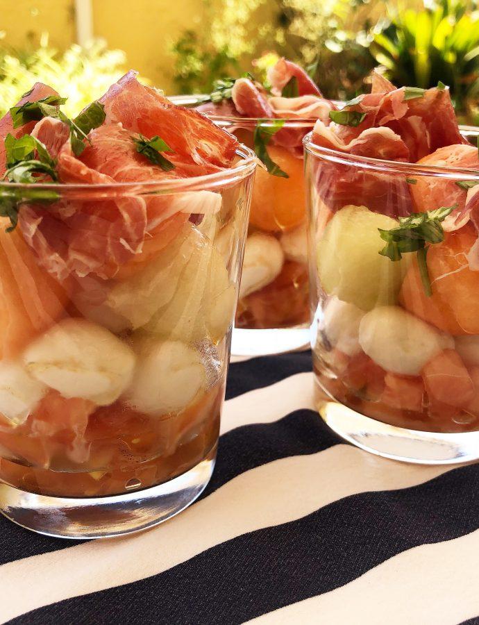 Ensalada de melon con jamón