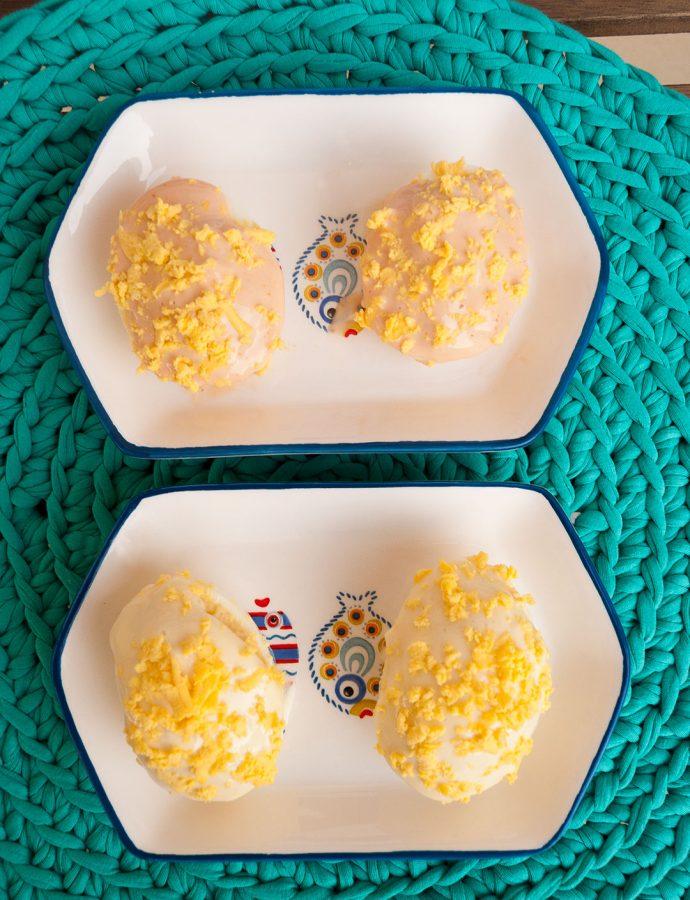 Huevos rellenos o huevos mimosa