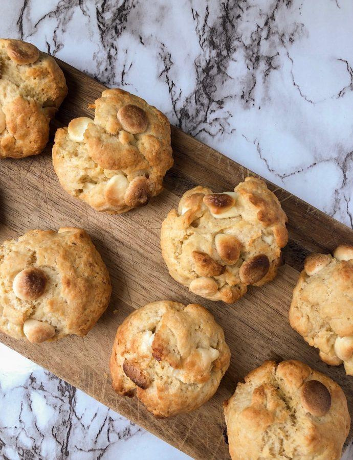 Cookies de chocolate blanco y manteca de cacahuete