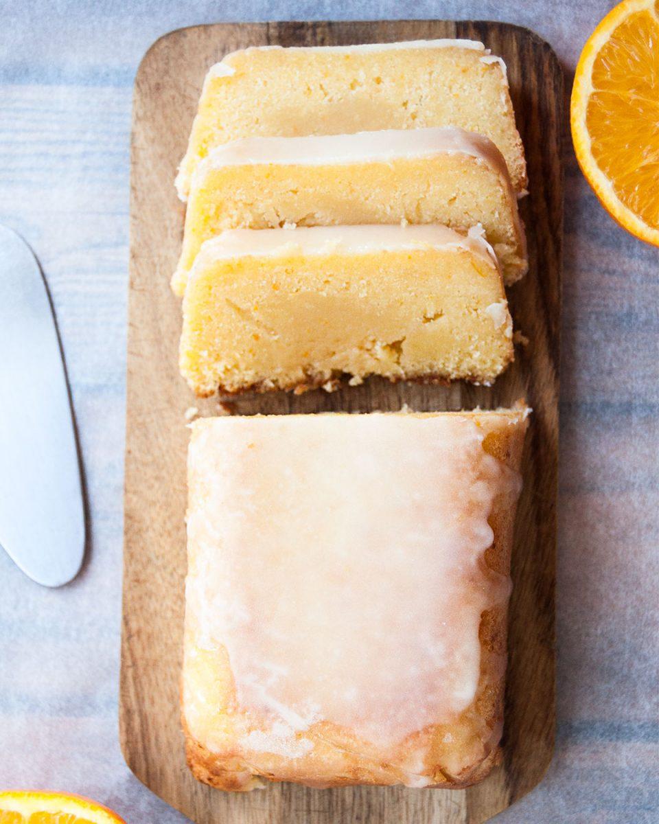 bizcocho glaseado de naranja