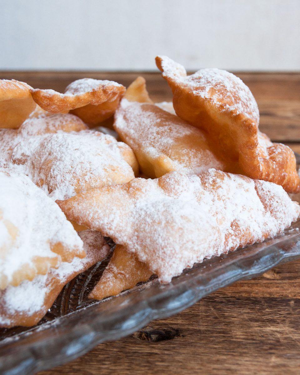 dulces de carnaval italianos