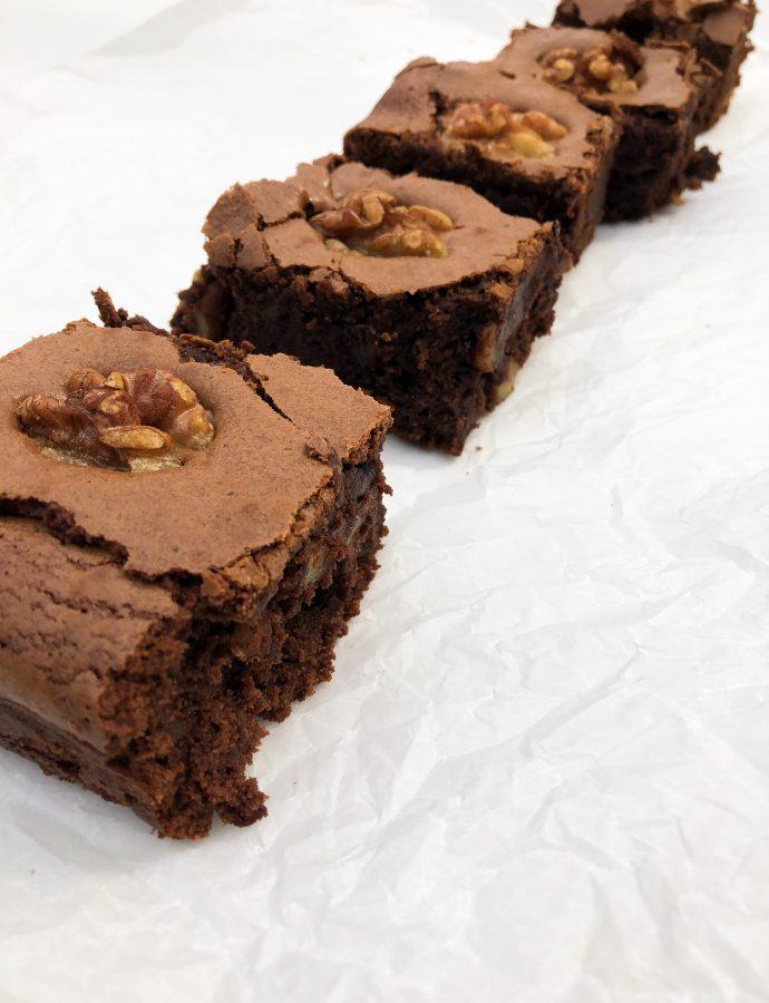 Como hacer un brownie con nueces